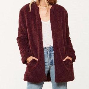 BB Dakota | Merril Faux Fur Long Jacket Cardigan